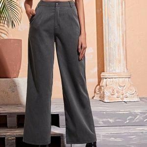 Louben blue pinstripe wide leg pants, 10